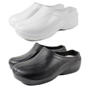 surgical clogs rubber black white