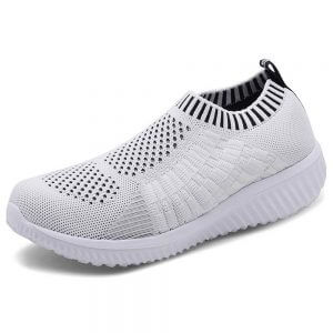 Cute Nursing Shoes konhill white Slip-On Breathable