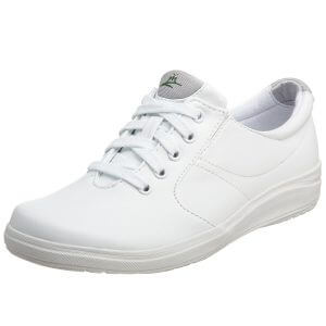 Grasshoppers Simple Cute Lace Up white Shoes For Nurses