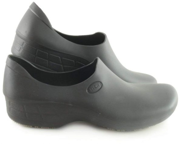 Surgical, Waterproof, Rubber-Like Work Clogs black