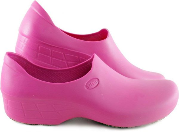 Surgical, Waterproof, Rubber-Like Work Clogs pink