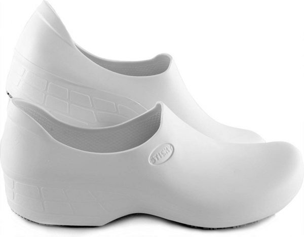 Surgical, Waterproof, Rubber-Like Work Clogs white