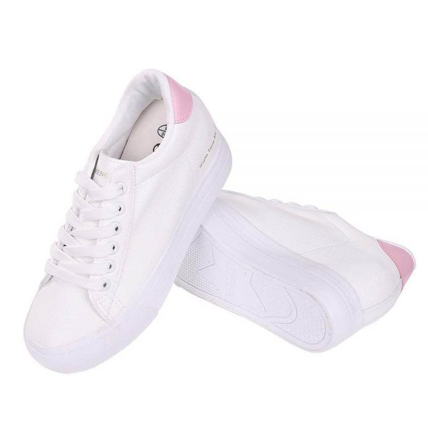 cute nursing hidden heel sneakers tennis shoes white