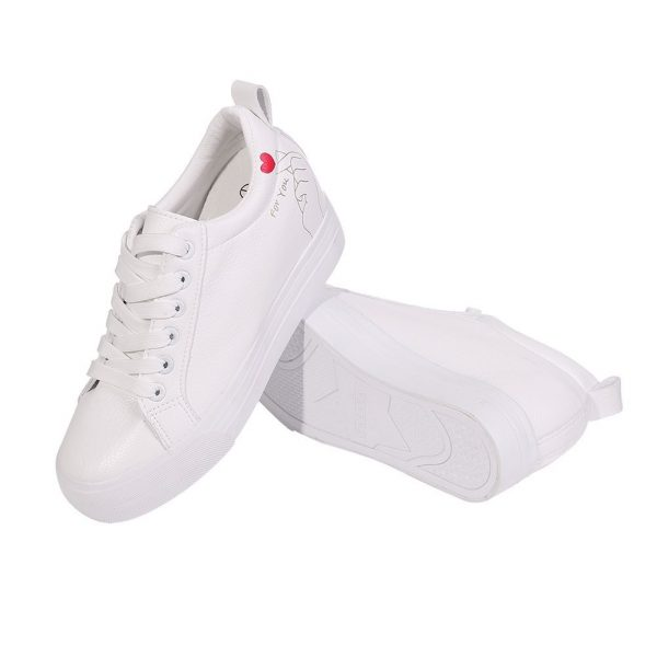 cute nursing tennis shoes sneakers hidden heel heart