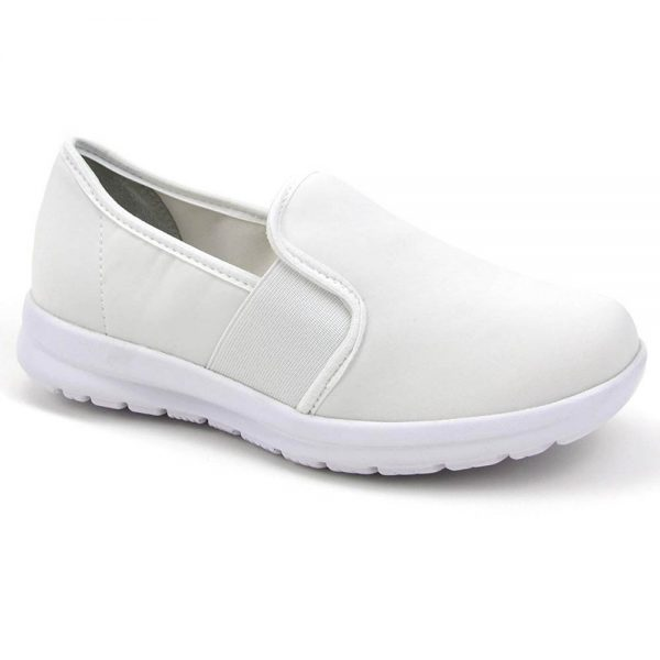 cute white nursing shoes memory foam
