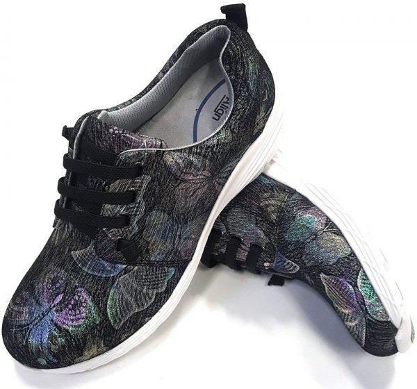 nurse mates cute shoes metallic butterfly