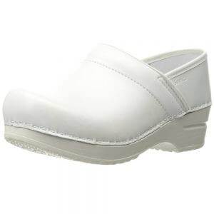 sanita white leather nursing shoes clogs arch support dansko look alike