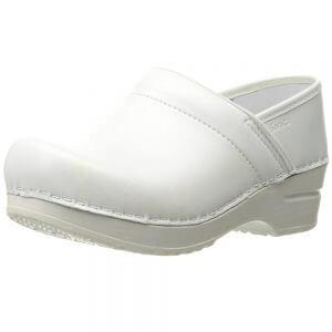 sanita white leather nursing shoes clogs arch support dansko look alike