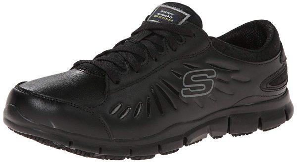 skechers black eldred shoe for nurses