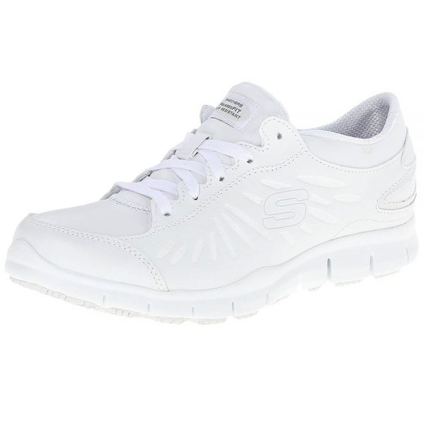 skechers white eldred shoe for nurses