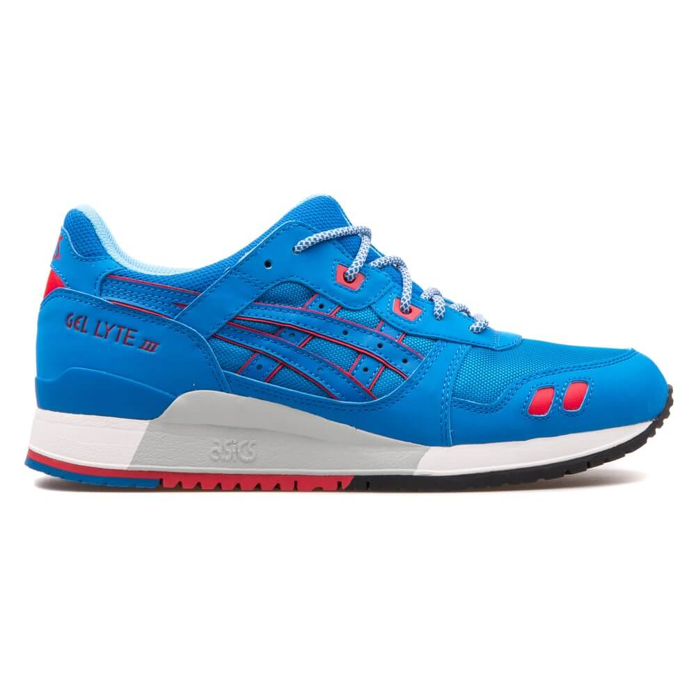 Asics Gel Lyte 3 blue and red sneaker